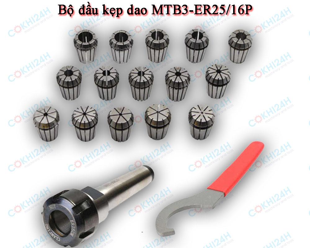Bộ đầu kẹp dao MTB3-ER25/16P
