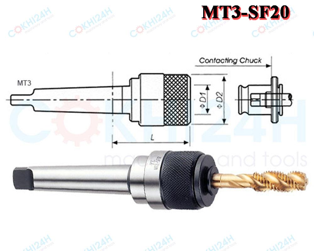 Đầu kẹp mũi taro MT3-SF20