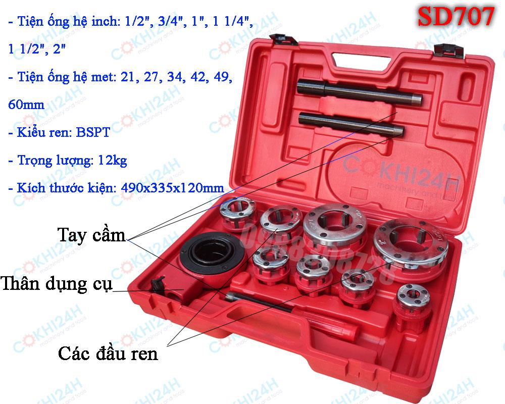 Bộ tiện ren ống bằng tay SD707