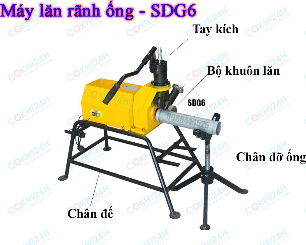 Máy lăn rãnh ống - Máy cán rãnh ống - máy tạo rãnh ống - SDG6