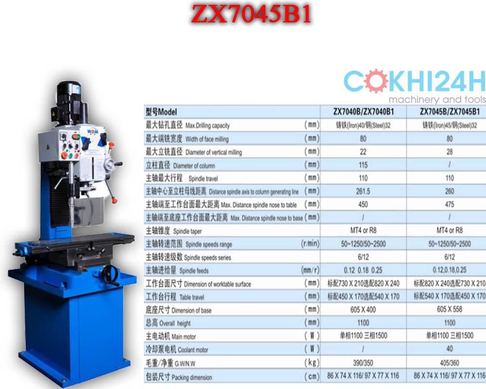Máy khoan phay tự động bằng hộp số ZX7045B1