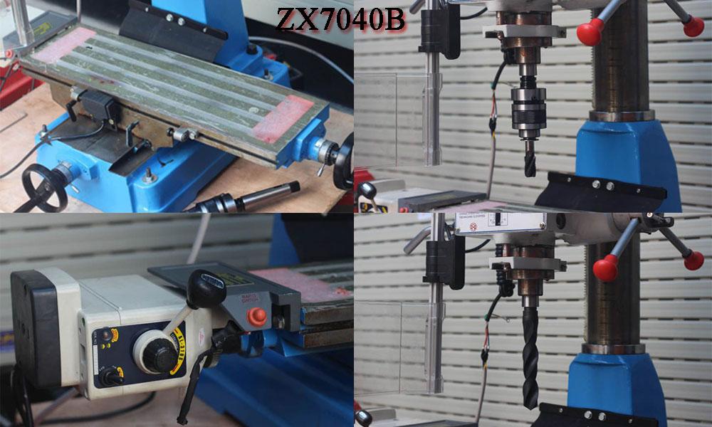 Máy khoan phay tự động bằng hộp số ZX7040B