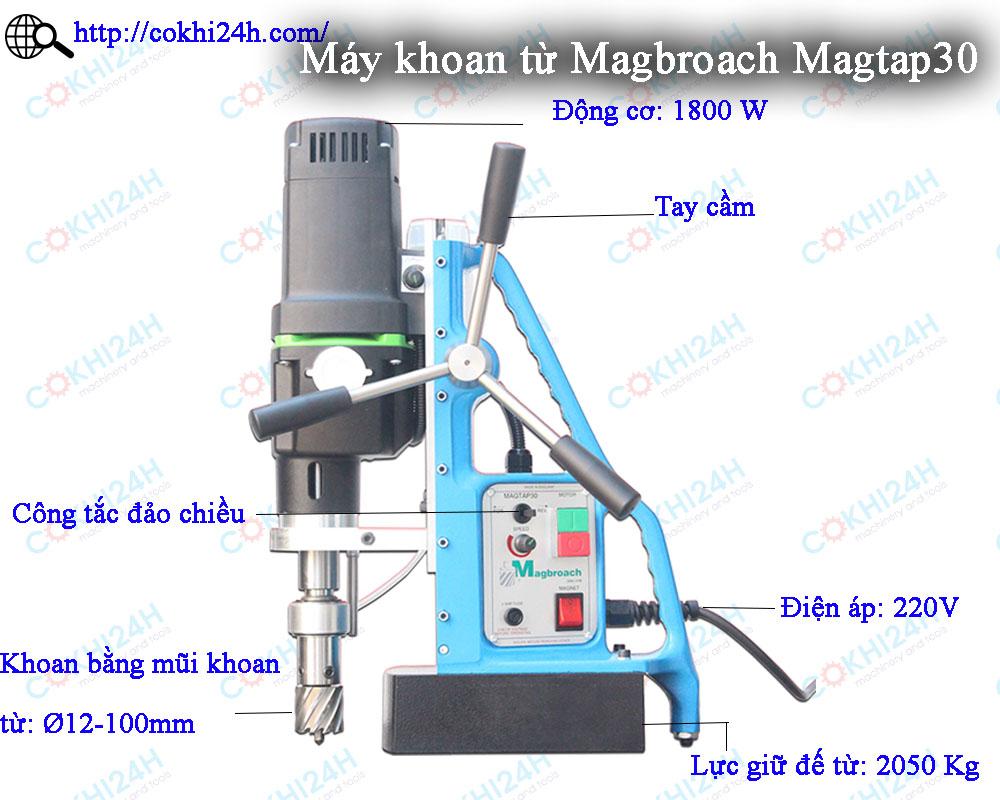 Máy khoan từ Magbroach Magtap30