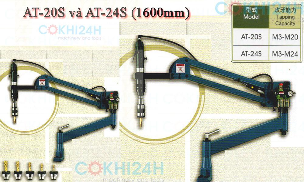 Máy taro khí nén loại lớn AT-20S và AT-24S (1600mm)