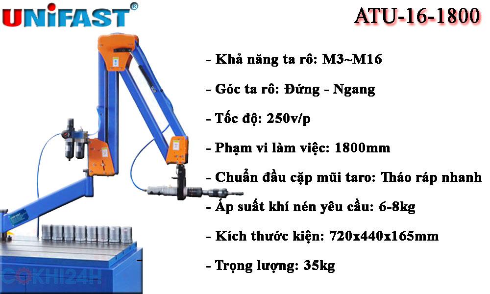 Máy taro cần khí nén ATU-16-1800