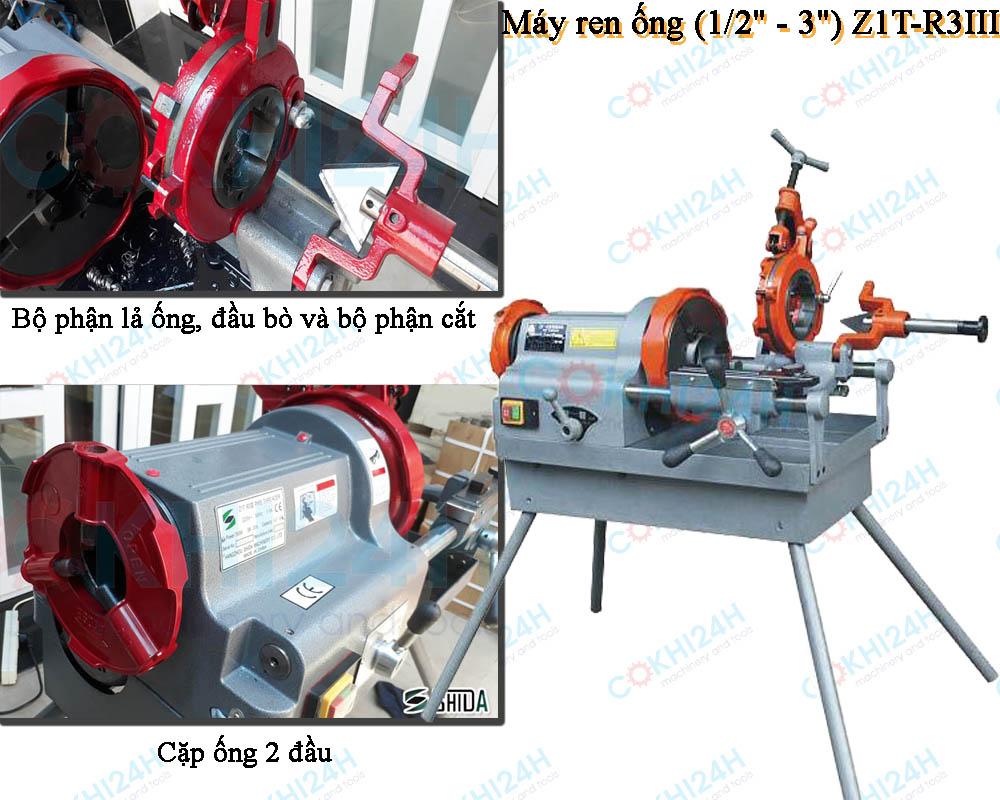 """Máy ren ống (1/2"""" - 3"""") Z1T-R3III"""